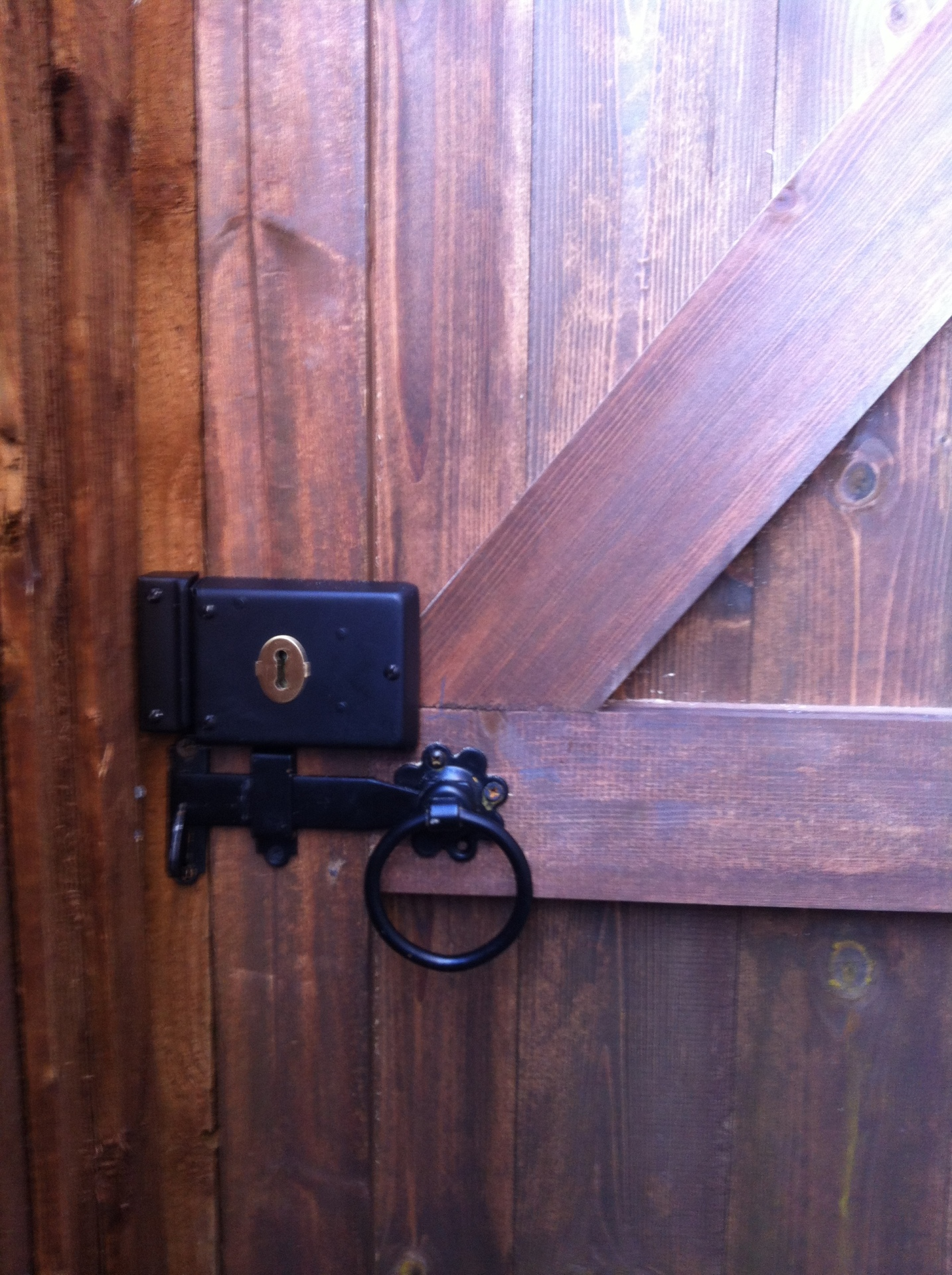 Gate Lock fitted by us
